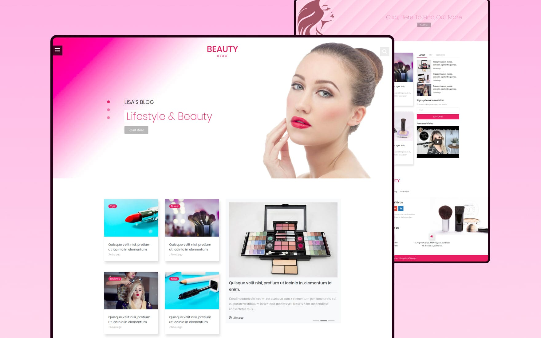 Beauty Blog Category Bootstrap Responsive Web Template