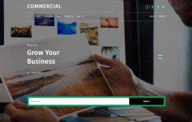 Commercial a Corporate Category Bootstrap Responsive Web Template