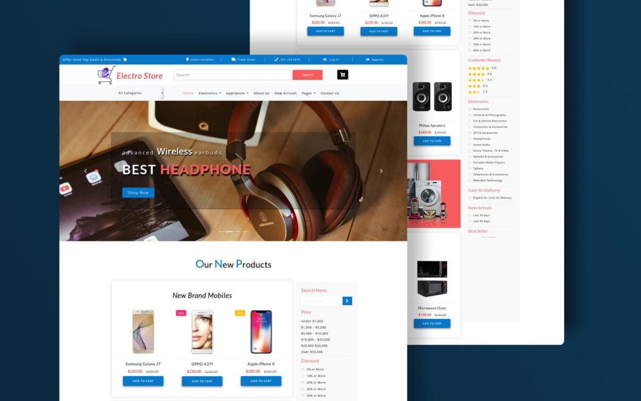 Electro Store an Ecommerce Theme Bootstrap Template