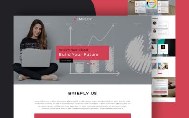 employ website template
