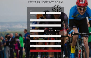 Fitness Contact Form Flat Responsive Widget Template