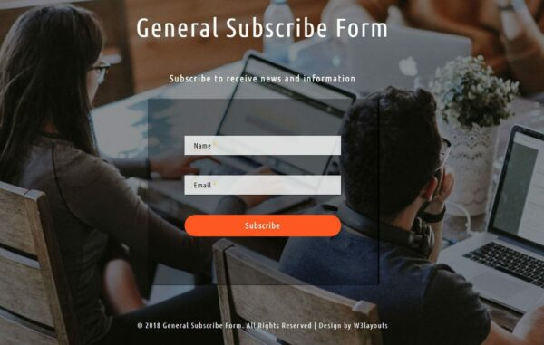 General subscribe form