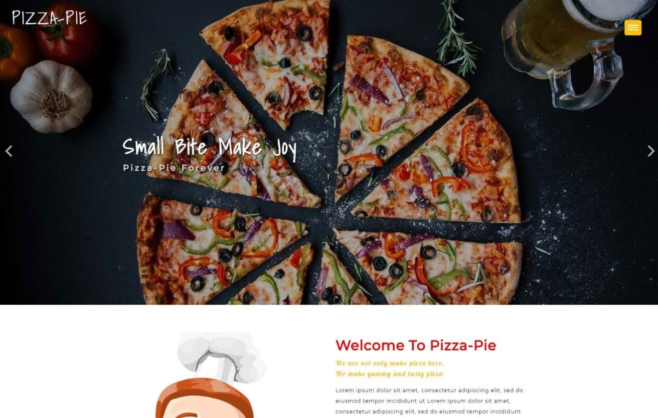 Pizza Pie a Hotels Category Flat Bootstrap Responsive web Template