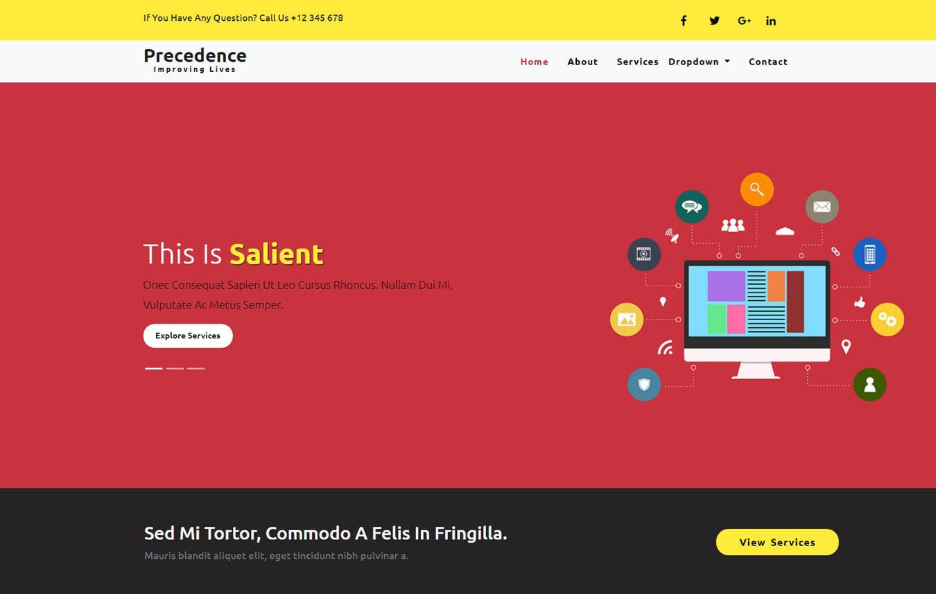 Precedence a Corporate Category Bootstrap Responsive Web Template