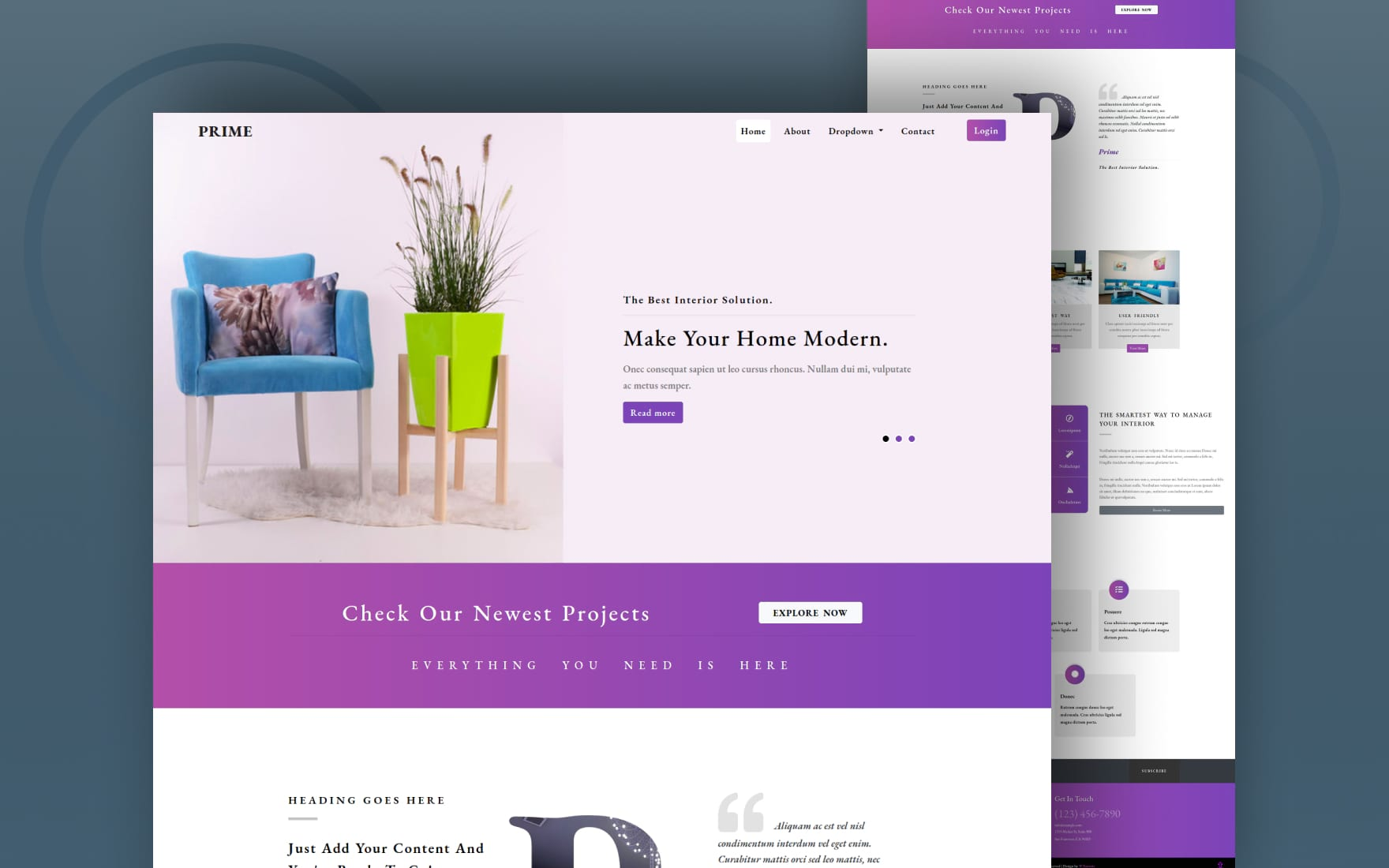 Prime Interior Category Bootstrap Responsive Web Template.