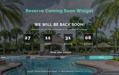 Reserve Coming Soon Flat Responsive Widget Template