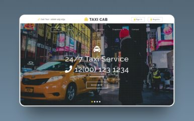 Taxi Cab Flat Bootstrap Responsive Web Template