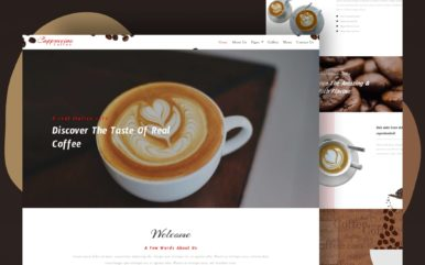 cappuccino coffee website template