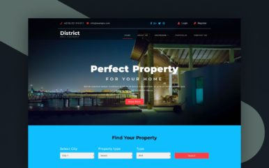 district website template