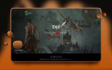 Dragon Hunt Gaming Website Template