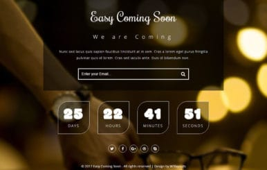 Easy Coming Soon a Flat Responsive Widget Template