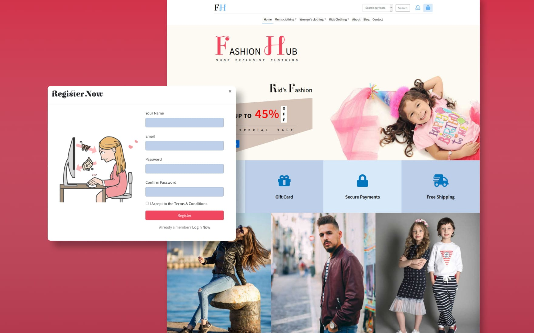 Fashion Hub an E commerce Category Bootstrap Responsive Web Template