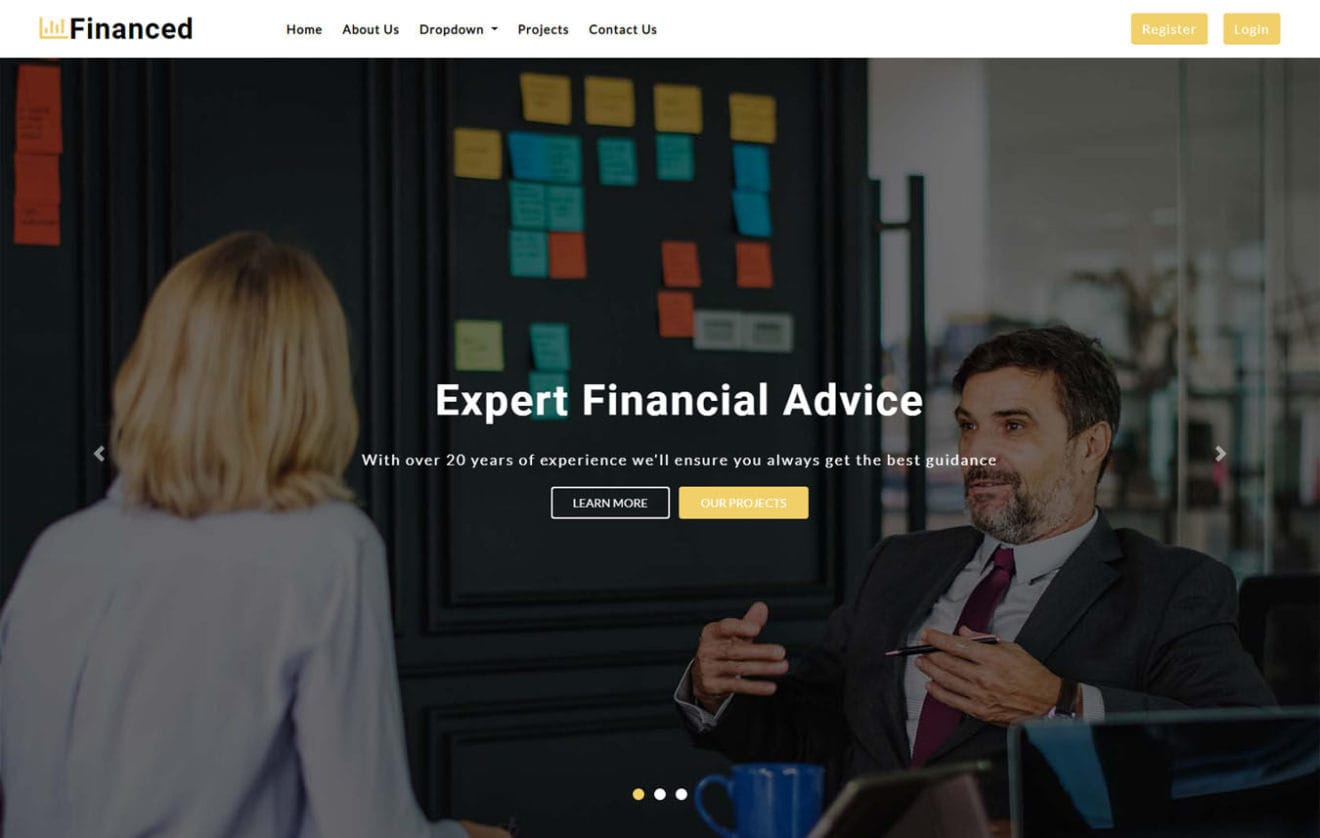 Financed a Corporate Category Bootstrap Responsive Web Template