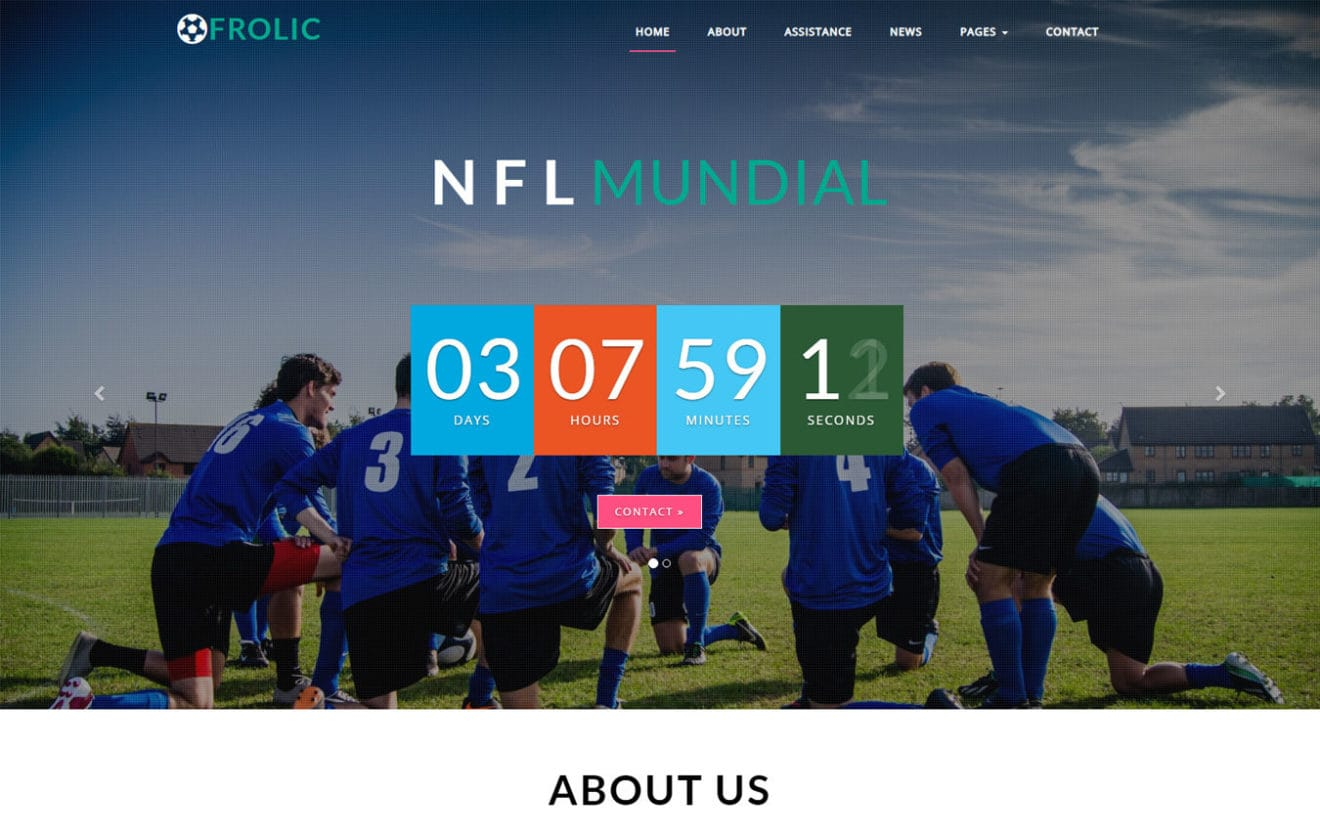 Frolic Sports Category Bootstrap Responsive Web Template