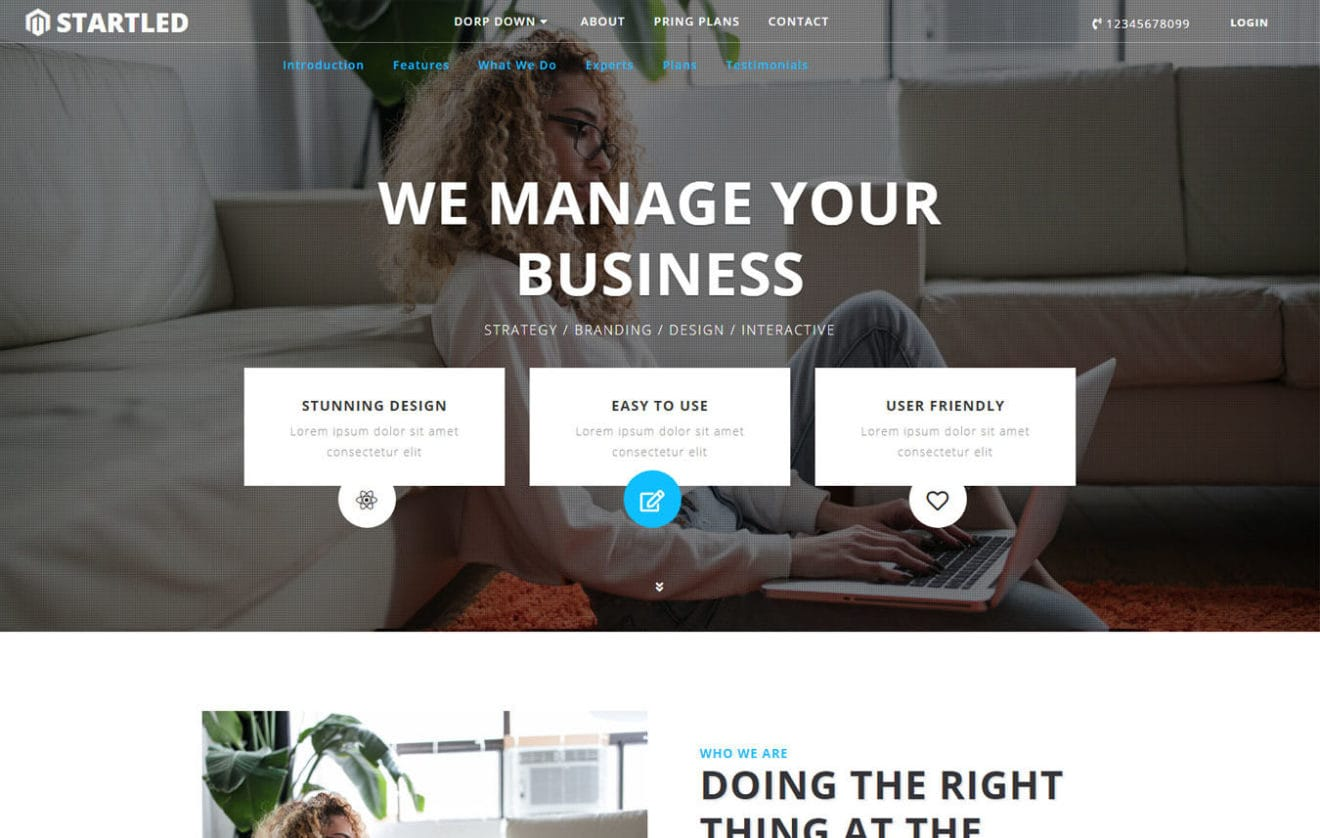 Startled Corporate Category Bootstrap Responsive Web Template.