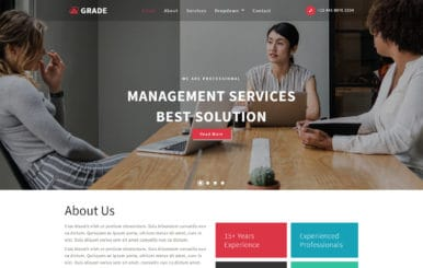 Grade Corporate Category Bootstrap Responsive Web Template.