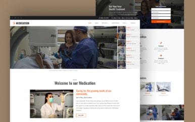 Medication Medical Category Bootstrap Responsive Web Template.