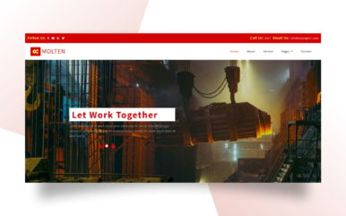 molten website template