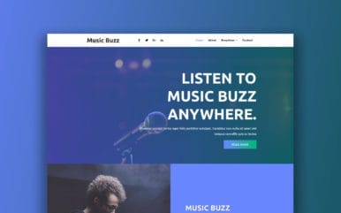 Music Buzz Music Category Bootstrap Responsive Web Template