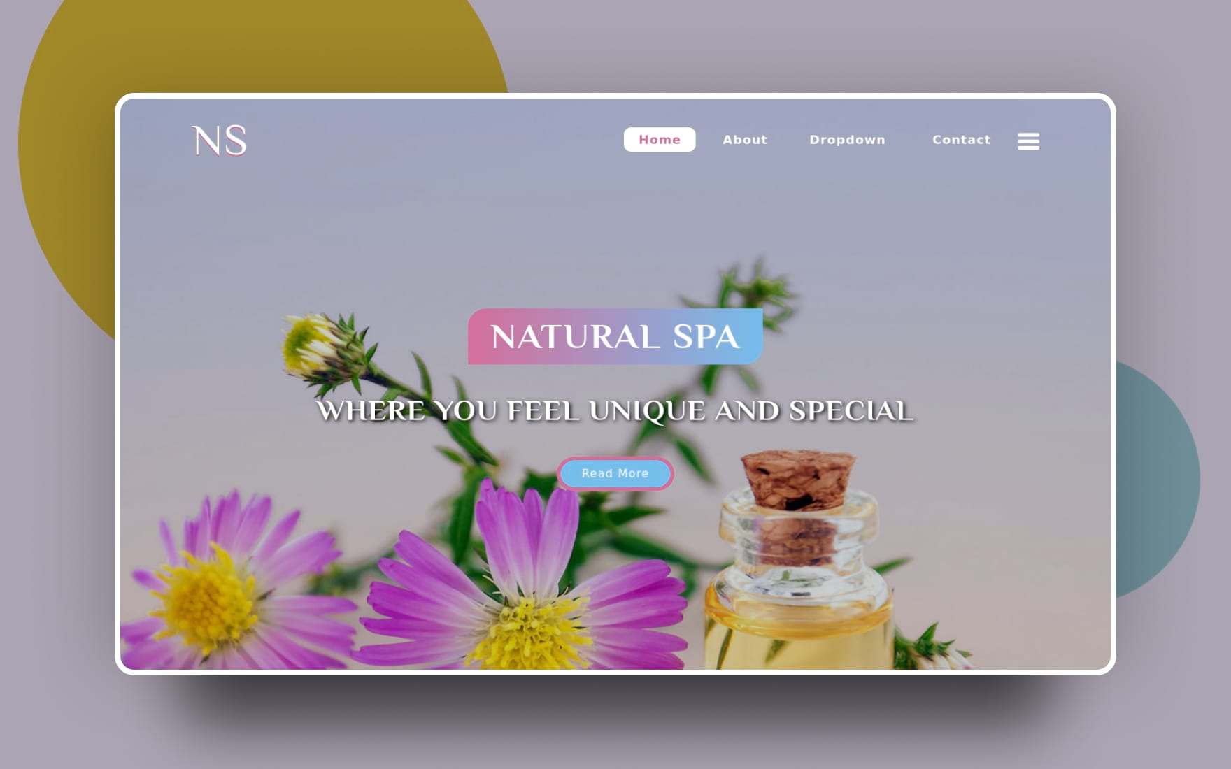 natural spa website template