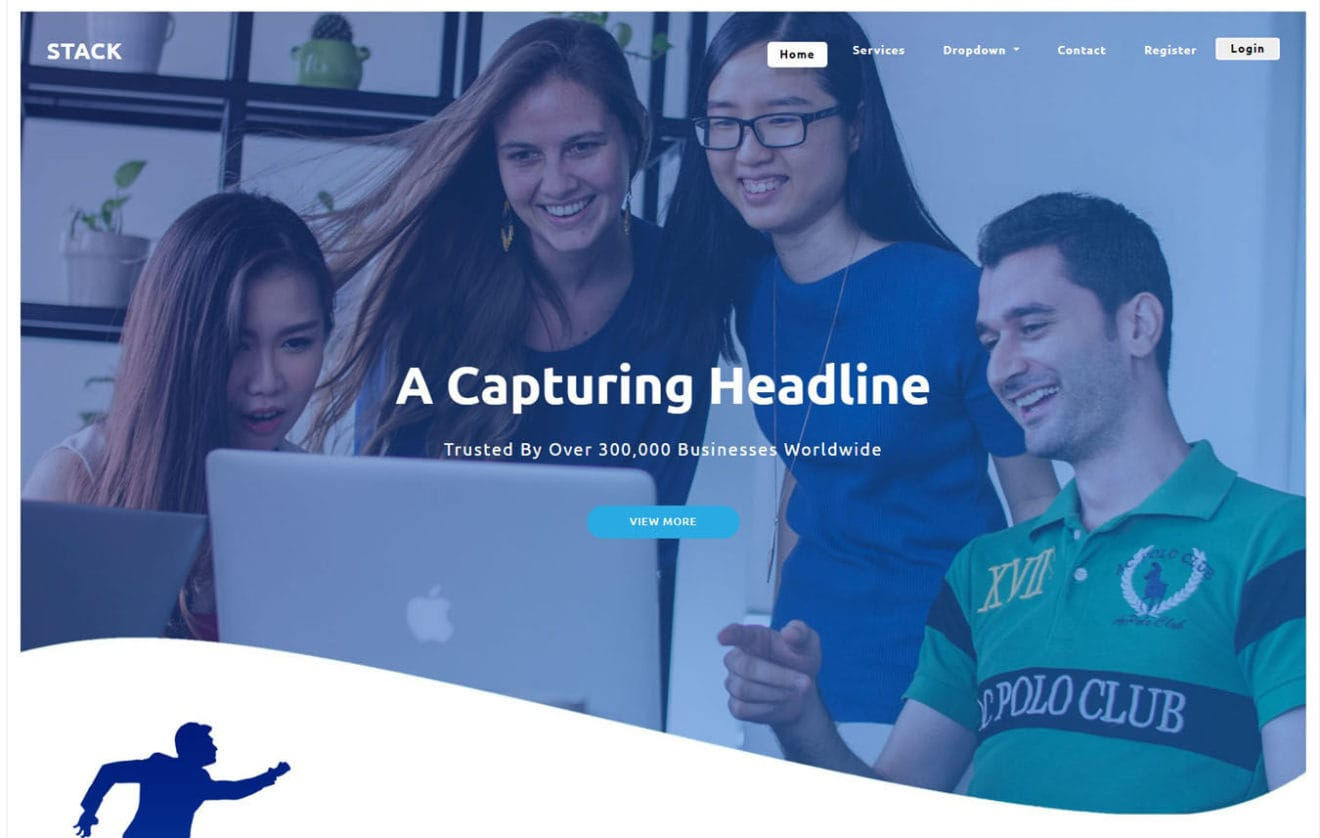 Stack a Landing Page Bootstrap Responsive Web Template