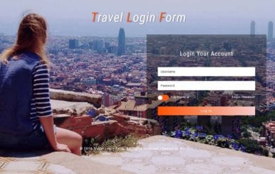 Travel Login Form Responsive Widget Template