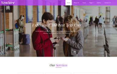 Venture Travel Category Bootstrap Responsive Web Template.