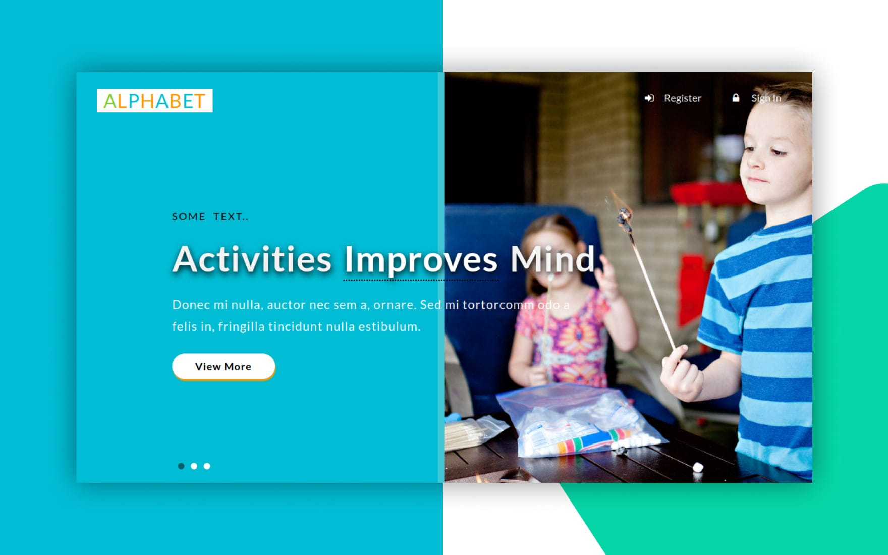 Alphabet an Education Category Bootstrap Responsive Web Template