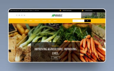 Arable Agriculture Category Bootstrap Responsive Web Template.