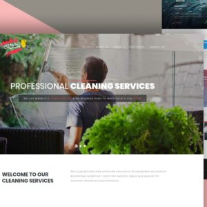 cleaning service website template