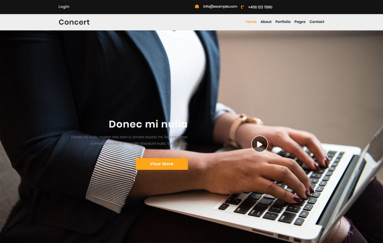 Concert a Corporate Category Bootstrap Responsive Web Template.