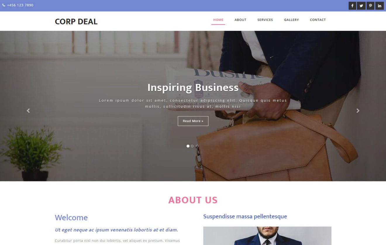 Corp Deal a Business Category Bootstrap Responsive Web Template
