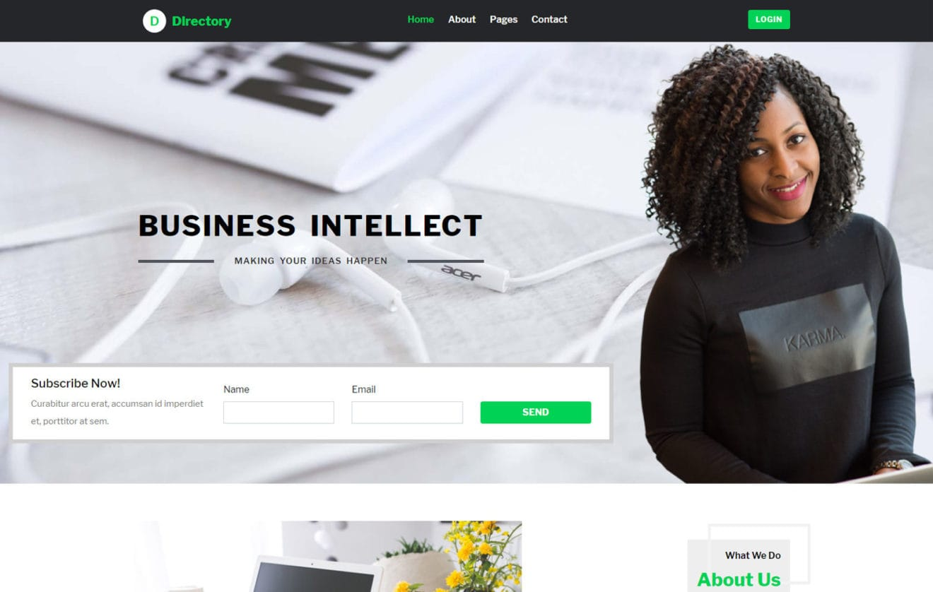 Directory a Business Category Bootstrap Web Template