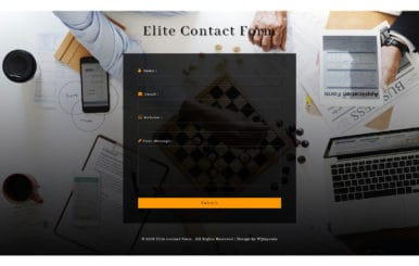 Elite Contact Form Flat Responsive Widget Template