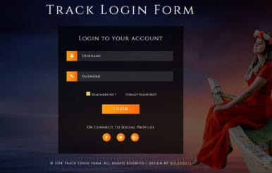 Track Login Form Flat Responsive Widget Template.