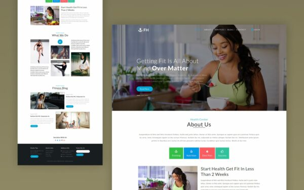 fitness health website template
