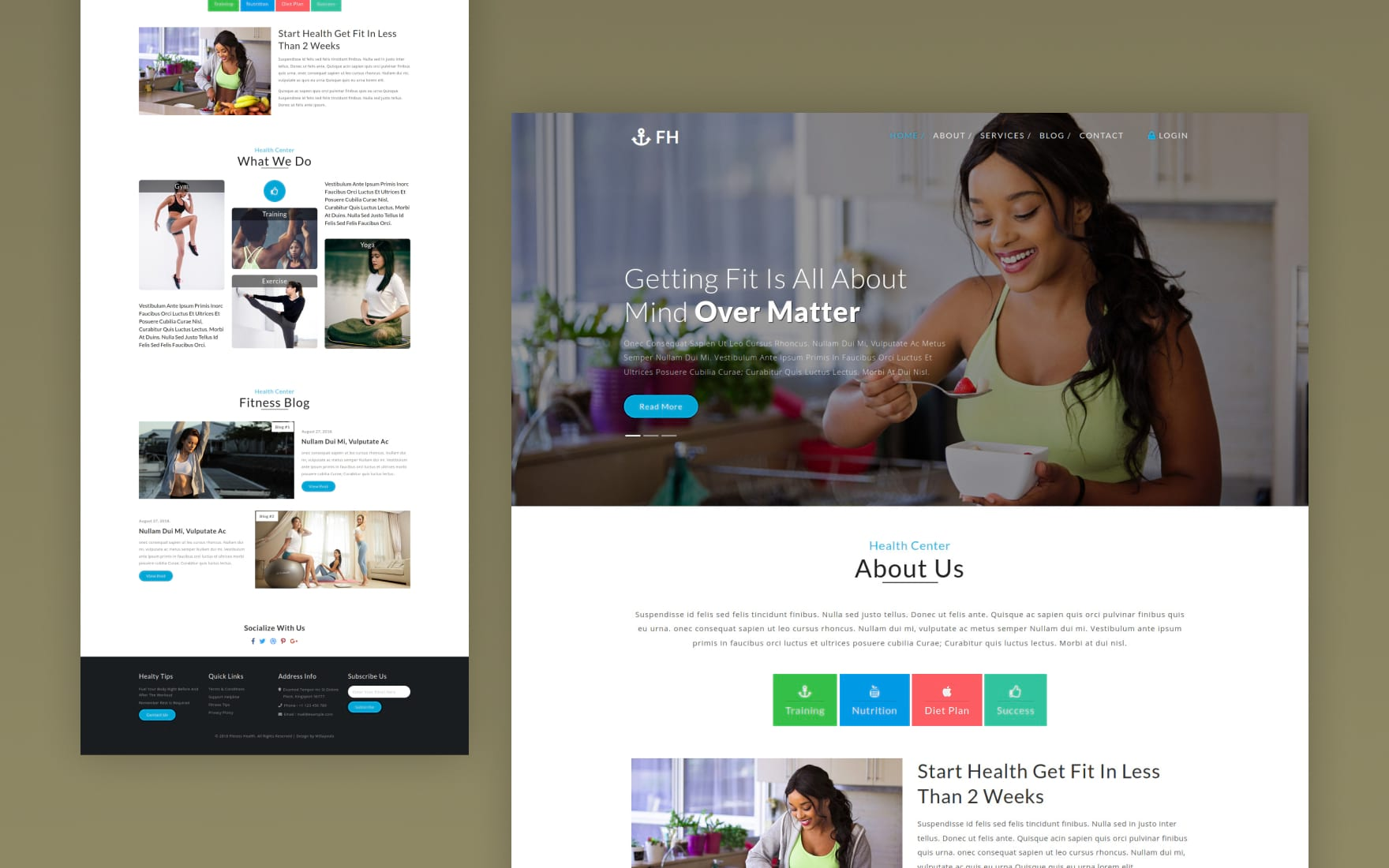 Fitness Health Sports Category Bootstrap Responsive Web Template.