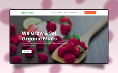 Fruitage Agriculture Category Bootstrap Responsive Web Template.