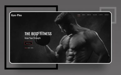 gym plus website template