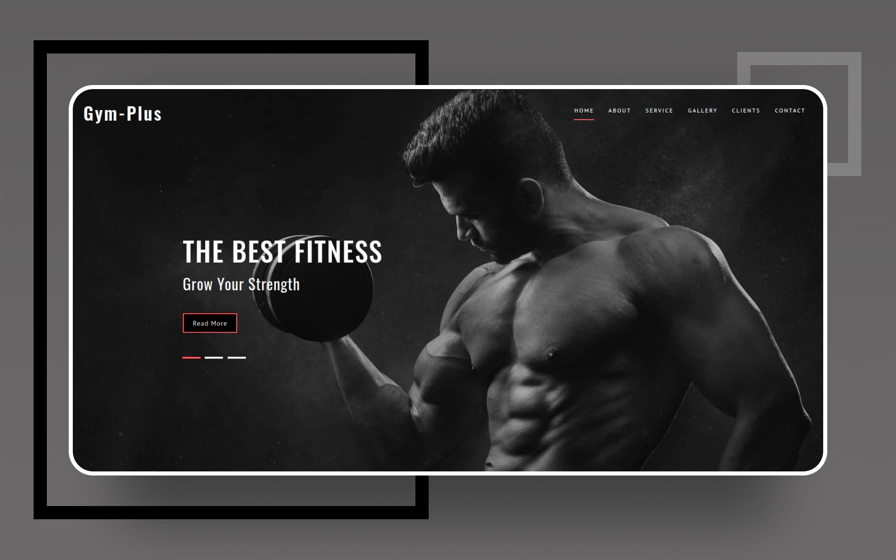 Gym Plus a Sports Category Bootstrap Web Template