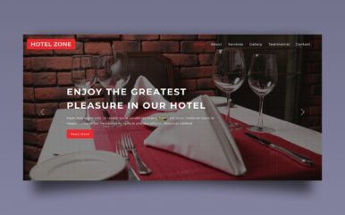 hotel zone website template