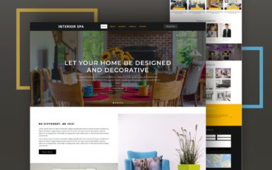 interior spa website template