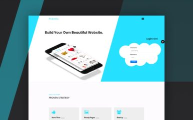 palette website template