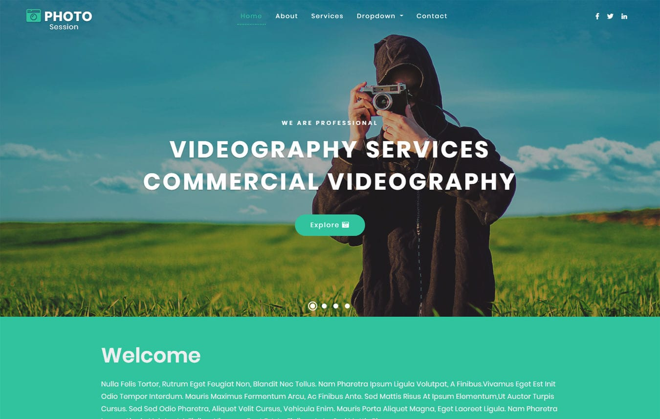Photo Session Photo Gallery Category Bootstrap Responsive Web Template.