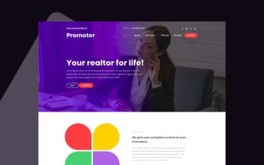 Promoter Real estate Category Bootstrap Responsive Web Template.