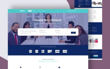 recruit website template