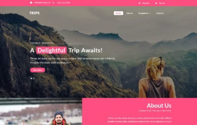 Trips a Travel Category Bootstrap Responsive Web Template