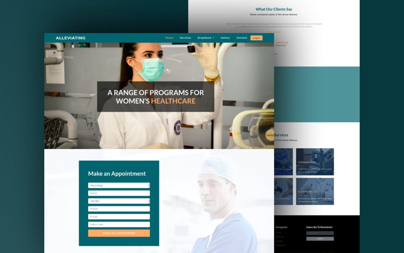 Alleviating Medical Category Bootstrap Responsive Web Template.