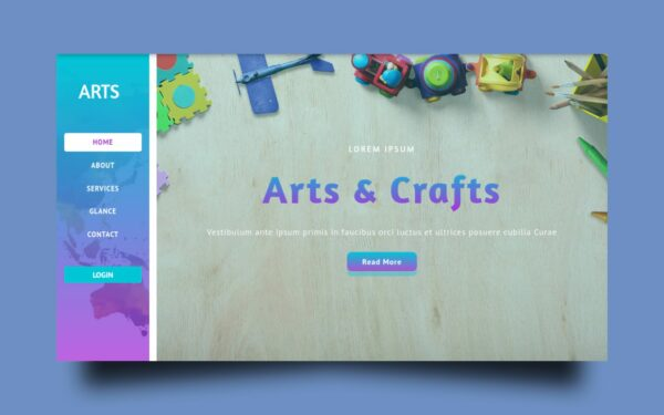 arts website template
