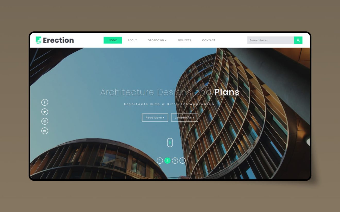 Erection Real estate Category Bootstrap Responsive Web Template.